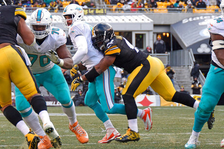 James Harrison, Matt Moore