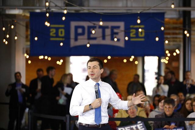 Democratic presidential candidate, former South Bend, Ind., Mayor Pete Buttigieg speaks during a campaign event, Wednesday, Jan. 15, 2020, in Newton, Iowa. (AP Photo/Patrick Semansky)