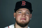 FILE - This is a 2020 file photo showing Alex Verdugo of the Boston Red Sox baseball team. (AP Photo/John Bazemore, File)