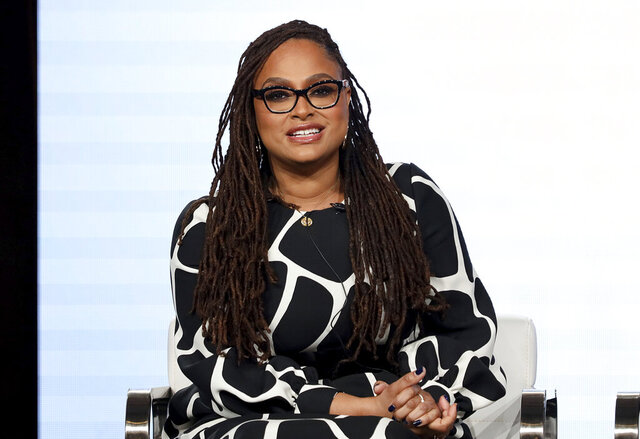 FILE - In this Thursday, Jan. 16, 2020, file photo, Ava DuVernay speaks at the OWN: Oprah Winfrey Network's