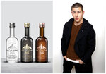 This combination photo shows three types of Villa One tequila, left, and singer-actor Nick Jonas, who co-founded Villa One with fashion designer John Varvatos. (Villa One via AP, left, and AP)