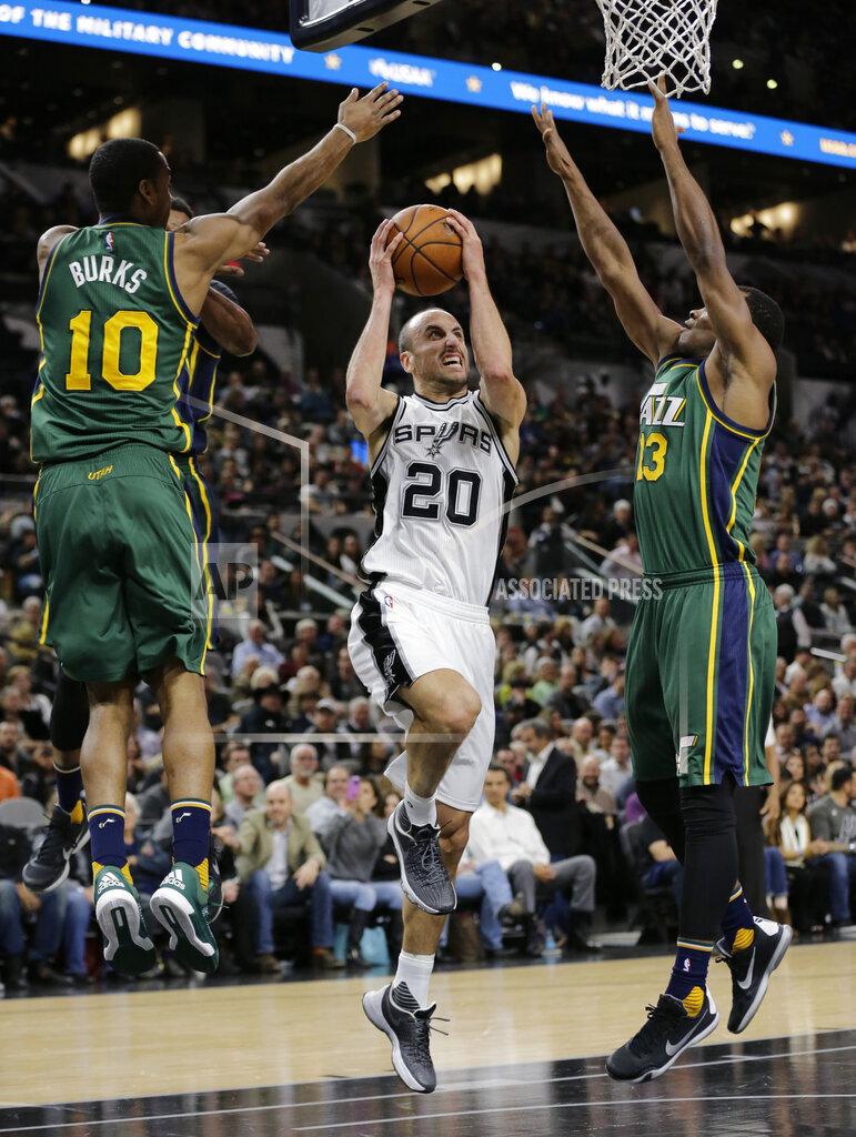 Jazz Spurs Basketball