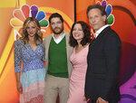 Abby Elliott, from left, Adam Pally, Fran Drescher and Sam Weber, from the cast of