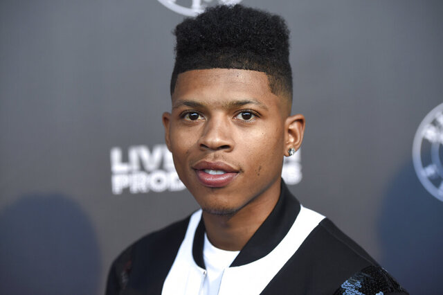 FILE - In this June 21, 2017, file photo, Bryshere Y. Gray arrives at the Los Angeles premiere of