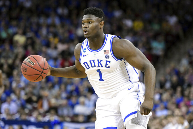 fe77fb0af970 Zion Williamson entering NBA draft after 1 year at Duke