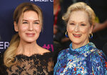 "This combination photo shows actresses Renee Zellweger, left, and Meryl Streep, who are both nominated for Grammy Awards. Zellweger, who won an Academy Award for her role as Judy Garland in ""Judy,"