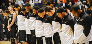 Purdue Northwestern Shooting Basketball