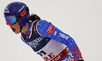 Slovakia's Petra Vlhova gets to the finish area during the downhill portion of the women's combined at the alpine ski World Championships in Are, Sweden, Friday, Feb. 8, 2019. (AP Photo/Giovanni Auletta)