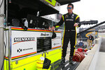 Simon Pagenaud, of France, stand on the pit wall following the final practice session for the Indianapolis 500 IndyCar auto race at Indianapolis Motor Speedway, Friday, May 24, 2019, in Indianapolis. (AP Photo/R Brent Smith)