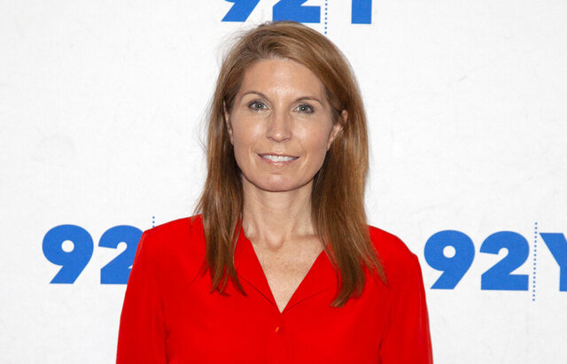 FILE - Nicolle Wallace poses backstage at the 92nd Street Y on Dec. 9, 2018, in New York. MSNBC has shuffled its daytime lineup, doubling Wallace's workload and moving Chuck Todd's