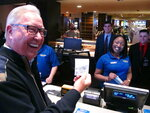 Former Philadelphia Eagles quarterback Ron Jaworski holds a ticket showing his $100 bet on the Philadelphia Phillies to win the 2019 World Series at the Tropicana casino in Atlantic City N.J. on March 8, 2019. Figures released on March 13, 2019 show New Jersey gamblers have wagered almost $2 billion on sporting events since it started nine months ago. (AP Photo/Wayne Parry)