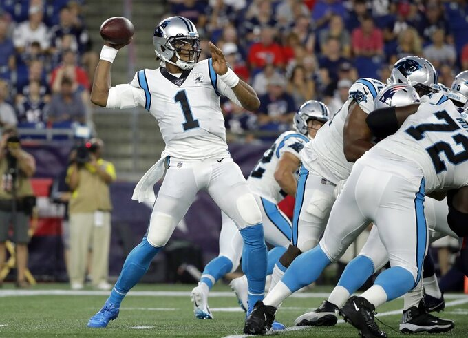 Panthers QB Newton leaves exhibition game with foot injury