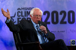 Democratic presidential candidate Sen. Bernie Sanders, I-Vt., speaks during the Climate Forum at Georgetown University, Thursday, Sept. 19, 2019, in Washington. (AP Photo/Jose Luis Magana)