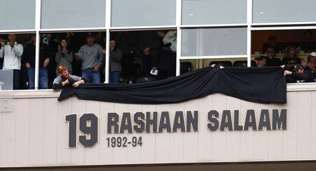 Rashaan Salaam sign