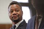Cuba Gooding Jr. stands in a courtroom in New York, Thursday, Oct. 10, 2019. The actor is accused of placing his hand on a 29-year-old woman's breast and squeezing it without her consent in New York on June 9.  (Alec Tabak/The Daily News via AP, Pool)