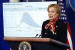 Dr. Deborah Birx, White House coronavirus response coordinator, speaks about the coronavirus in the James Brady Press Briefing Room of the White House, Tuesday, March 31, 2020, in Washington. (AP Photo/Alex Brandon)