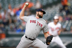 Boston Red Sox starting pitcher Josh Smith delivers during the first inning of a baseball game against the Baltimore Orioles, Monday, May 6, 2019, in Baltimore. (AP Photo/Nick Wass)