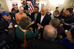2020 Democratic presidential candidate Sen. Cory Booker talks with an audience member during a meeting with local residents, Saturday, March 16, 2019, in Ottumwa, Iowa. (AP Photo/Charlie Neibergall)
