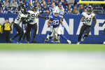 Indianapolis Colts' Jonathan Williams (33) runs during the second half of an NFL football game against the Jacksonville Jaguars, Sunday, Nov. 17, 2019, in Indianapolis. (AP Photo/AJ Mast)