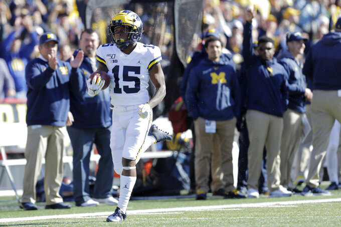 Kickoff return launches No. 14 Michigan past Maryland 38-7