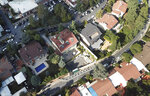 This Sunday, Oct. 7, 2018 aerial photo shows the Saudi Arabia consulate, centre, in Istanbul. Turkey has summoned the Saudi ambassador in Ankara to request Riyadh's