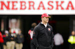 FILE - In this Sept. 29, 2018, file photo, Nebraska head coach Scott Frost follows warmups before an NCAA college football game against Purdue in Lincoln, Neb. The winless Huskers were expected to struggle this season, but no one foresaw them being the only Power Five conference team without a win. (AP Photo/Nati Harnik, File)