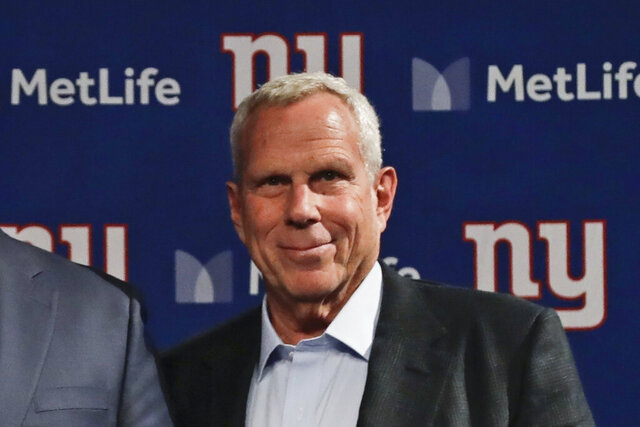 FILE - This is a Jan. 9, 2020, file photo showing New York Giants co-owner Steve Tisch after a news conference in East Rutherford, N.J. The 36-year-old daughter of Steve Tisch has died. Hilary Anne Tisch died on Monday, Aug. 10, 2020, Steve Tisch said in a statement issued for the family. The statement did not cite a cause of death or say where she died, but it noted she had battled depression.(AP Photo/Frank Franklin II, File)