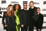 Nina Garcia, from left, Elaine Welteroth, Brandon Maxwell, Karlie Kloss and Christian Siriano attend the season premiere of Bravo's