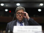 Attorney General William Barr listens during a House Judiciary Committee hearing on the oversight of the Department of Justice on Capitol Hill, Tuesday, July 28, 2020 in Washington. (Chip Somodevilla/Pool via AP)
