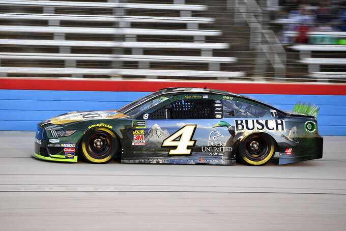 Harvick on pole at Texas while other Cup contenders in clump