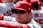 FILE - In this April 1, 2019, file photo, St. Louis Cardinals manager Mike Shildt stands in the dugout before a baseball game against the Pittsburgh Pirates in Pittsburgh. The Cardinal return largely intact after battling the Cubs for the NL Central, then advancing to the NLCS, where they lost to the Nationals in four games. (AP Photo/Gene J. Puskar, File)