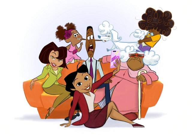 This image released by Disney Plus shows characters from a revival of the new animated series