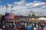 President Donald Trump speaks at an event at Fincantieri Marinette Marine, Thursday, June 25, 2020, in Marinette, Wis. (AP Photo/Morry Gash)