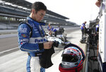 Takuma Sato, of Japan, prepares to drive during practice for the IndyCar Indianapolis 500 auto race at Indianapolis Motor Speedway in Indianapolis, Tuesday, May 15, 2018. (AP Photo/Michael Conroy)