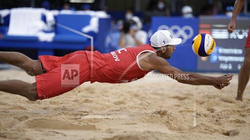 APTOPIX Tokyo Olympics Beach Volleyball
