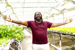 """This June 5, 2019 photo shows rapper T-Pain, host of """"T-Pain's School of Business,"""