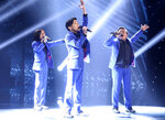 This image released by CBS shows the TNT Boys performing on the premiere of the competition series