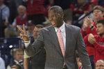Dayton coach Anthony Grant signals to his team during the first half of an NCAA college basketball game against Richmond in Richmond, Va., Saturday, Jan. 25, 2020. (AP Photo/Lee Luther Jr.)
