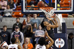 South Carolina guard AJ Lawson (0) scores against Auburn during the second half of an NCAA college basketball game Wednesday, Jan. 22, 2020, in Auburn, Ala. (AP Photo/Julie Bennett)