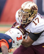 Minnesota's Seth Green (17) runs the ball in the first half of an NCAA  college football game, Saturday, Nov. 3, 2018, in Champaign, Ill. (AP Photo/Holly Hart)
