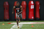 Georgia cornerback Deandre Baker runs the 40-yard dash during Pro Day at the University of Georgia, Wednesday, March 20, 2019, in Athens, Ga. (Joshua L. Jones/Athens Banner-Herald via AP)