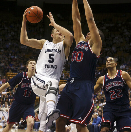BYU vs St. Mary's mens basketball game 05