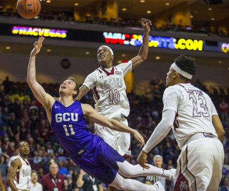 APTOPIX WAC Grand Canyon New Mexico St Basketball