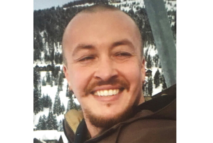 """This undated photo provided by the Danielson family shows Aaron """"Jay"""" Danielson, who was shot in the chest late Saturday, Aug. 29, 2020, in Portland, Ore., as protesters clashed with supporters of President Donald Trump. No one has been arrested in the shooting.  (Danielson family via AP)"""