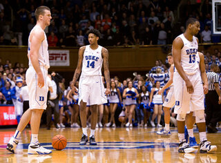 Marshall Plumlee, Brandon Ingram, Grayson Allen, Matt Jones