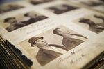 This photo shows a page in an Rogues Gallery Book from the 1890s during a media tour of the new City of Philadelphia Archives in Philadelphia, Thursday, Dec. 6, 2018. (AP Photo/Matt Rourke)