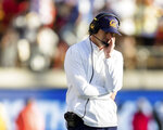 California head coach Justin Wilcox react in the fourth quarter of a football game against Stanford in Berkeley, Calif., Saturday, Dec. 1, 2018. (AP Photo/John Hefti)