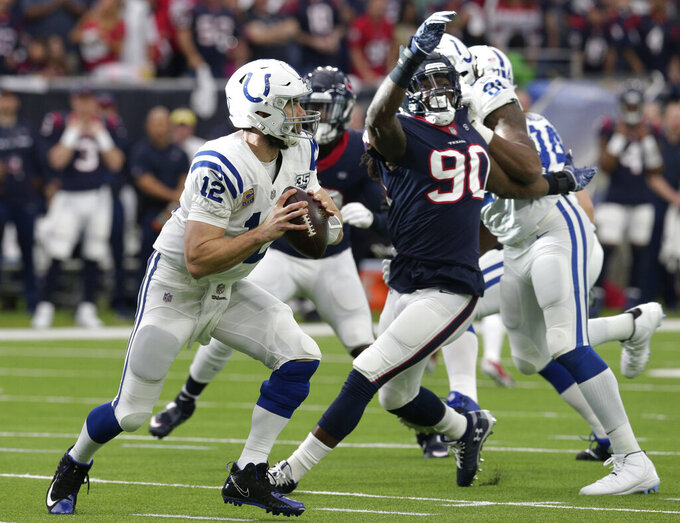 Texans struggle to protect Watson in 21-7 loss to Colts