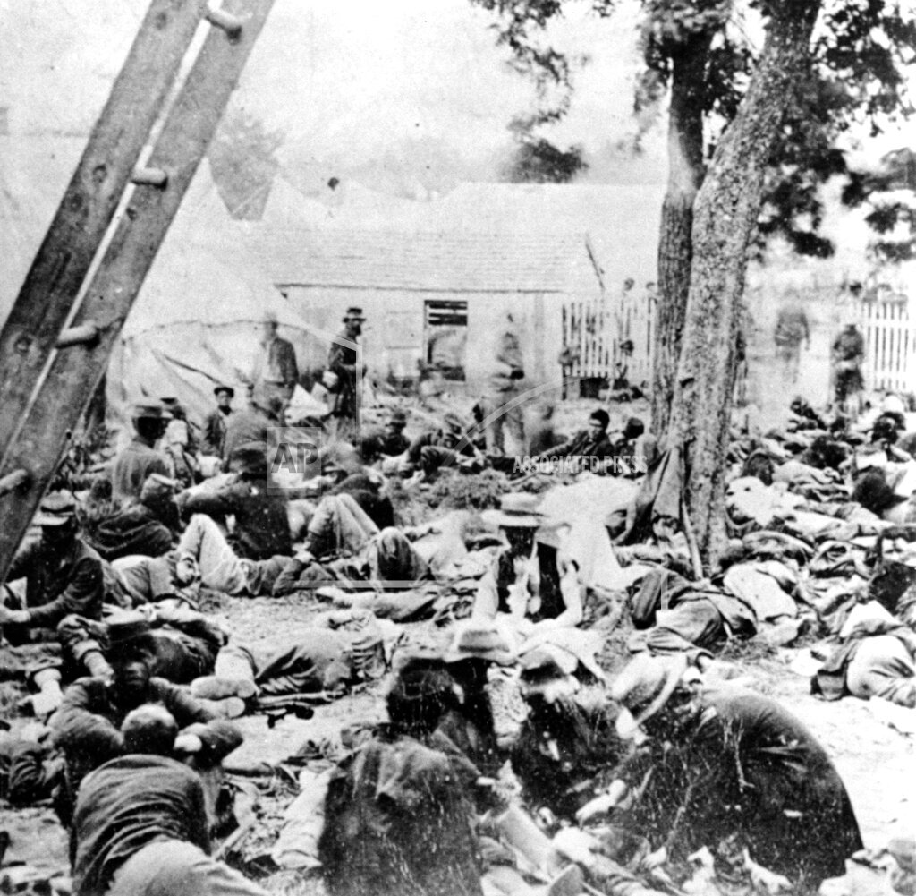 Associated Press Domestic News Virginia United States WOUNDED UNION SOLDIERS