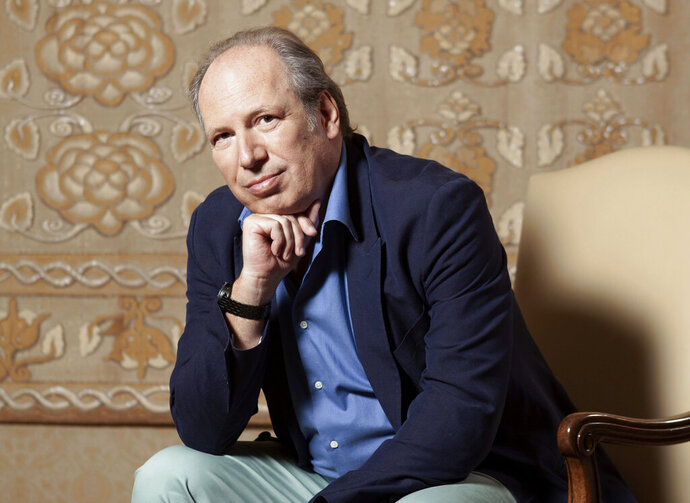 This July 10, 2019 photo shows composer Hans Zimmer posing for a portrait at the Montage Hotel in Beverly Hills, Calif., to promote the film
